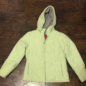 Light green winter jacket